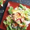 Vegetarian Sushi Roll Salad with Soy Ginger Dressing