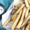 Oven Fries with Sour Cream Chive Sauce