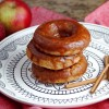 Apple Donuts with Caramel Glaze
