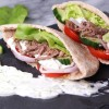Beef Gyros with Tzatziki Yogurt Sauce
