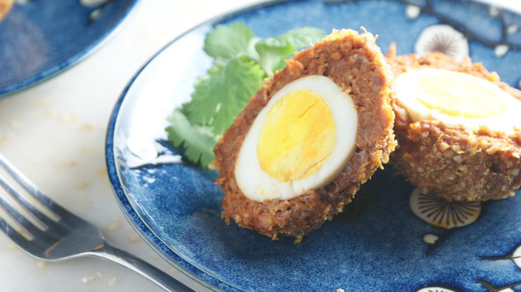 Baked Chorizo Scotch Eggs - Cooking Up Clean