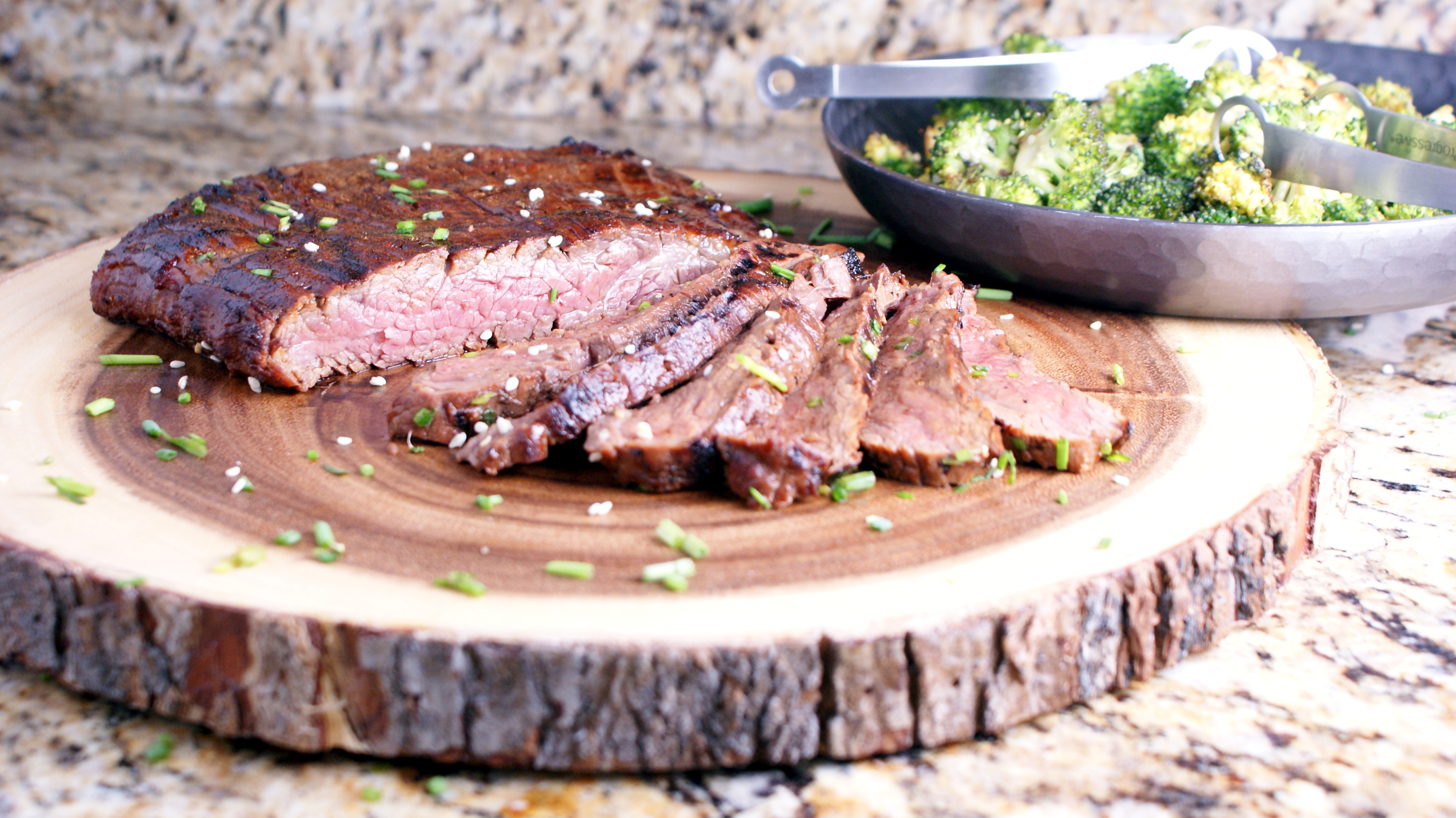 Korean Flank Steak - Cooking Up Clean